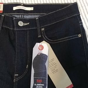 NWT Levis slimming skinny high rise jeans